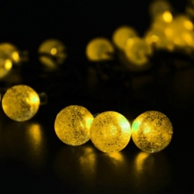 Led sopotek 164ft 48 meters 30 led crystal ball solar powered led sopotek 164ft 48 meters 30 led crystal ball solar powered outdoor string lights for outside garden patio party christmas fairy solar powered aloadofball Images