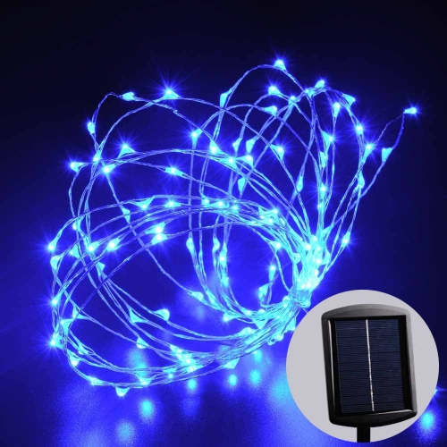 LED SopoTek Solar LED Starry String Lights, Silver Wire Lights 120 LEDs, 1000 mAh Battery LED ...